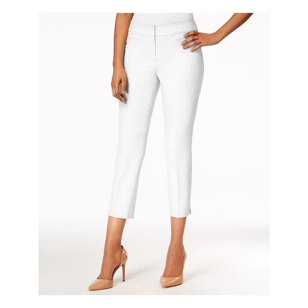 NINE WEST Womens Ivory Creased Skinny Wear To Work Pants Size 2 - Overstock  - 29190630