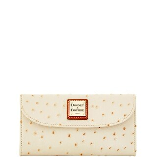 Dooney & Bourke Ostrich Embossed Leather Continental Clutch (Introduced by Dooney & Bourke at $128 in Dec 2015)
