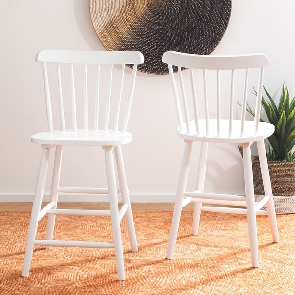 """SAFAVIEH Galena 24-inch Spindle Farmhouse Counter Stool (Set of 2) - 19.9"""" x 20.1"""" x 43.1"""". Opens flyout."""