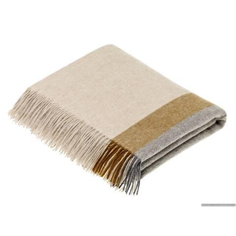 Merino Lambswool Throw Blanket - Harley Stripe - Made in England,