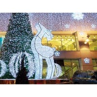 3.9' Giant Commercial Grade LED Lighted Waterloo Reindeer Christmas Decoration Display - White Lights