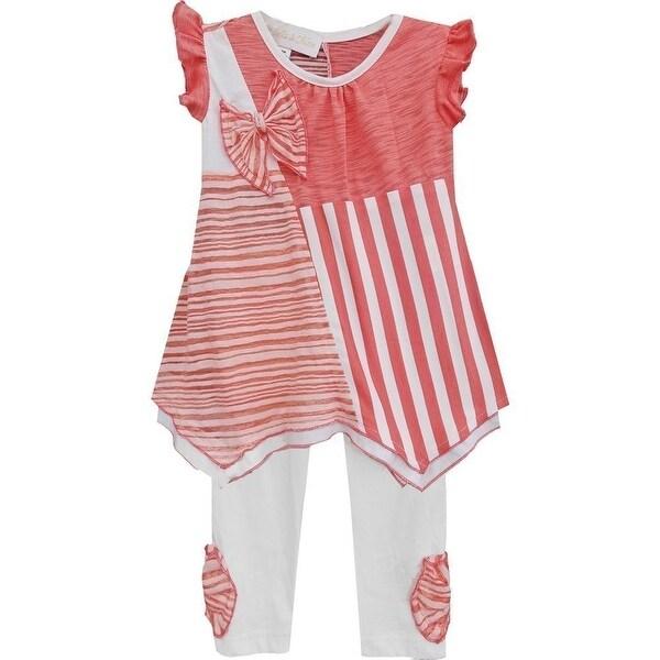 Isobella & Chloe Baby Girls Coral Gingersnap Two Piece Pant Set 12M-24M