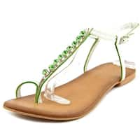 Coconuts By Matisse Kent Women  Open-Toe Leather White Slingback Sandal