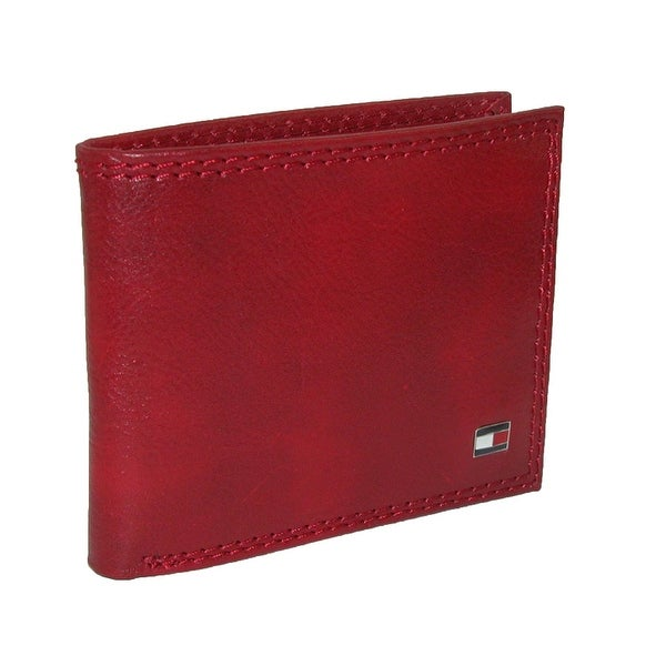 Tommy Hilfiger Men's Leather Jerome Double Billfold Wallet