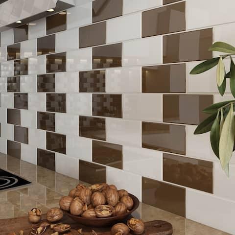 Classic Brown Subway Tiles (5.5 Square Feet) (44 Pieces per Unit)