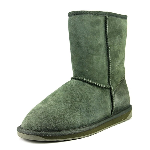 Emu Australia Stinger Lo Women Round Toe Suede Green Winter Boot