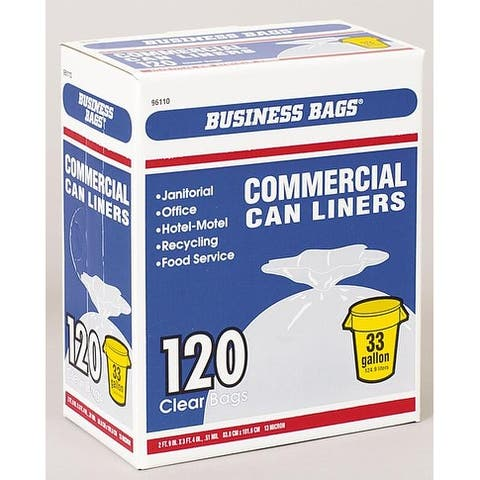 Berry Plastics 618632 Commercial Trash Can Liners, 33 Gallon