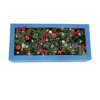 """J & J Seasonal CHL-5PTF7-612 Color Change Christmas Garland, Green, 12"""" X 6'"""