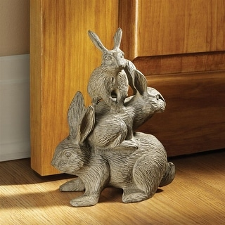 Design Toscano Bunched Bunnies Cast Iron Rabbit Statue