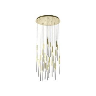Link to Avenue Lighting HF2031BOABB 31 Light Pendant Boa Brushed Brass - One Size Similar Items in Pendant Lights