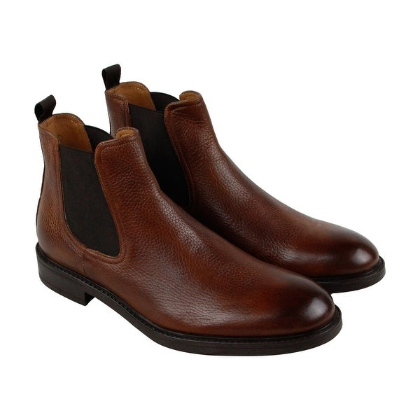 Kenneth Cole New York Premium Mens Brown Leather Casual Dress Boots Shoes