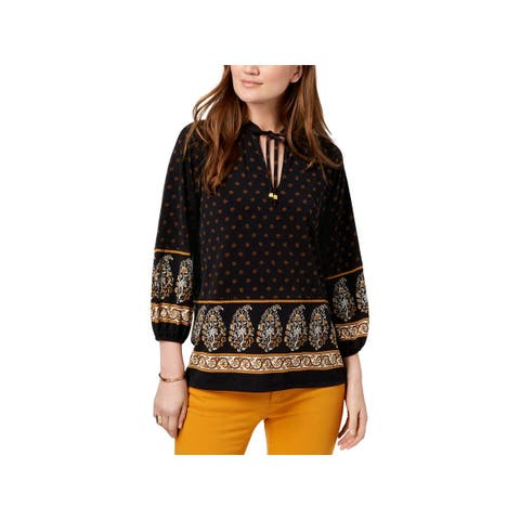 MICHAEL Michael Kors Womens Blouse Long Sleeves Paisly