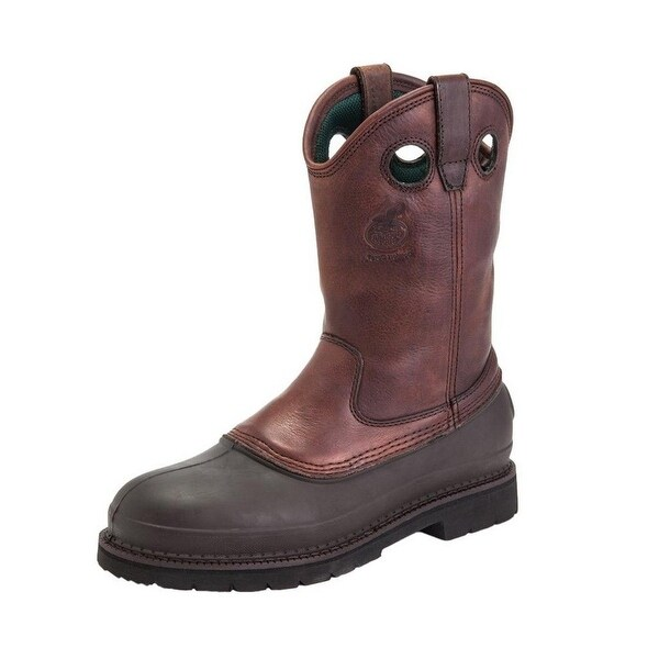 "Georgia Boot Work Mens 12"" Muddog ST Comfort Core Soggy Brown"