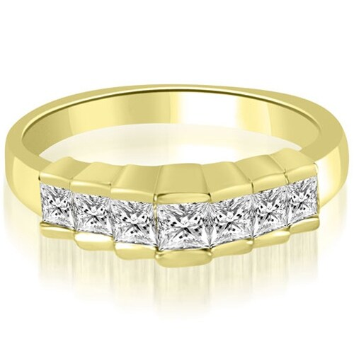0.75 cttw. 14K Yellow Gold Princess Cut Diamond Wedding Band