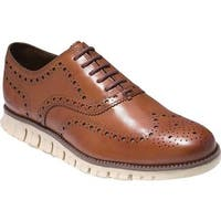 Cole Haan Men's ZEROGRAND Wingtip Oxford British Tan Leather
