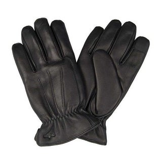 Dockers Men Genuine Leather Gloves Sherpa Lined Heritage Fit - Black
