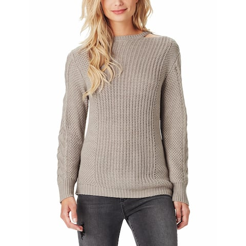 Jessica Simpson Women's Gray Size Small S Cutout Knitted Sweater