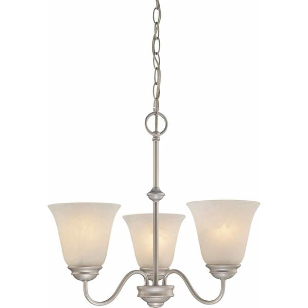 Volume Lighting V2263 Hammond 3-Light 1 Tier Chandelier with Alabaster Glass Shade