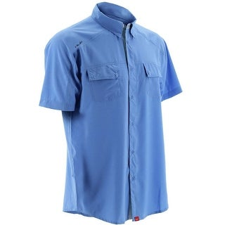 Huk Men's Next Level Carolina Blue XX-Large Button Down Short Sleeve