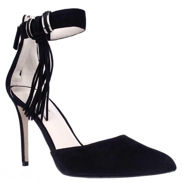 Nine West Everafter Side Tassel D'Orsay Ankle Strap Dress Pumps, Black