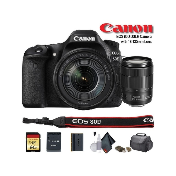 Canon EOS 80D DSLR Camera with 18-135mm Lens (1263C006) - Starter. Opens flyout.
