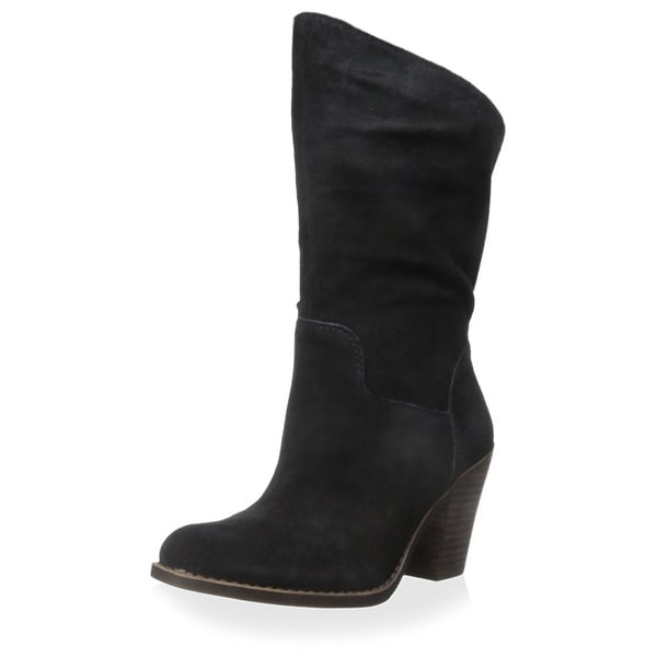 Lucky Brand Womens Embrleigh Leather Closed Toe Mid-Calf Fashion Boots