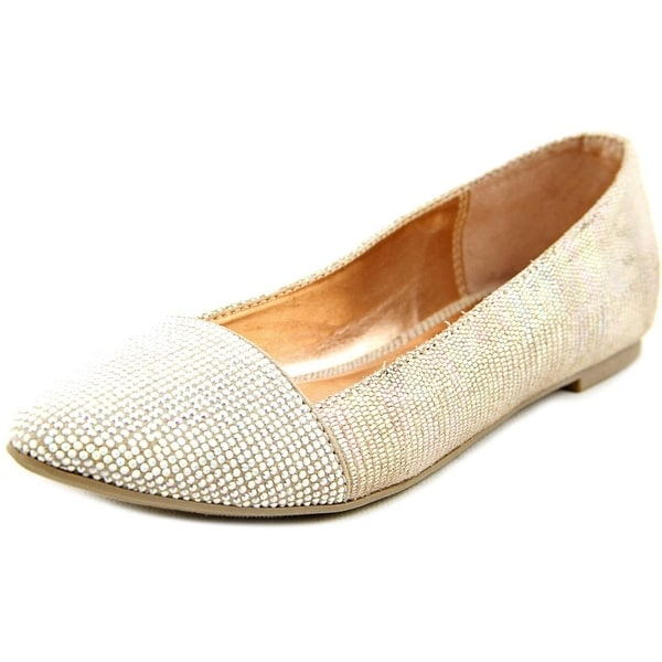 Material Girl Astor Women Round Toe Canvas Nude Ballet Flats