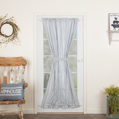 Sawyer Mill Ticking Stripe Door Panel - Door Panel 72x40 - Door Panel 72x40