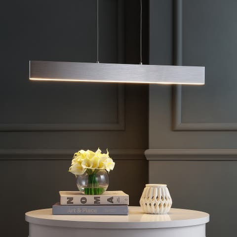 """Draper 32"""" Dimmable Adjustable Integrated LED Pendant by JONATHAN Y"""