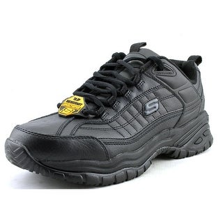 Skechers Soft Stride Galley Round Toe Leather Work Shoe