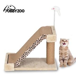 """116"""" Cat Climbing Tree Cat Scratch Board Two in One Leopard Mark (Leopard Mark)"""