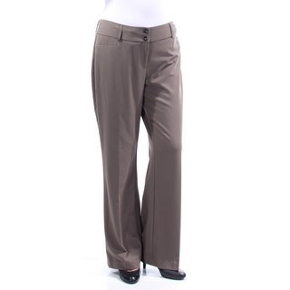 Womens Gray Wear To Work Pants Size 10