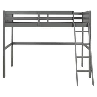 Link to Twin over full loft bed with cabinet, gray Similar Items in Kids' & Toddler Furniture