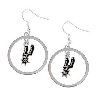 SAN Antonio Spurs Hoop Logo Earring Set NBA Charm Gift
