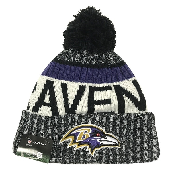 Shop New Era Baltimore Ravens Knit Beanie Cap Hat NFL 2017 On Field  Sideline 11460408 - Free Shipping On Orders Over  45 - Overstock - 17743729 f11ec5db0