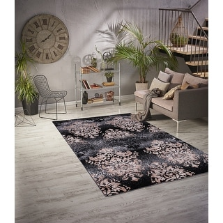Link to Sofia Black/Gold Polypropylene Area Rug Similar Items in Classic Rugs