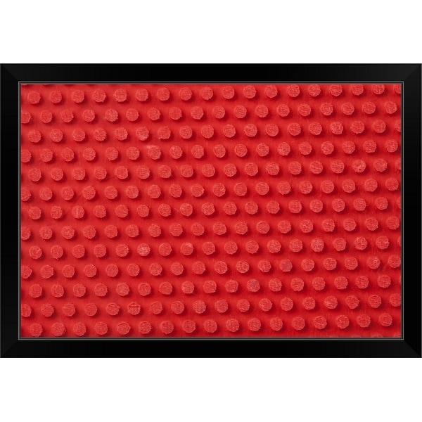 """Hi-Res macro image of a studded ping pong paddle."" Black Framed Print"