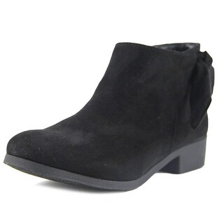 Nine West Samarah Youth Round Toe Synthetic Black Bootie