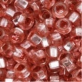 Czech Seed Beads 8/0 Silver Foil Lined Rose Pink (1 Ounce) - Thumbnail 0