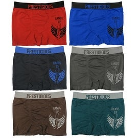 Men's 6-Pack Seamless Hands Up Print Boxer Briefs