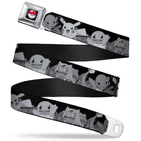 Pok Ball Full Color Black Pikachu & Kanto Starter Pokmon Pok Balls Rays Seatbelt Belt