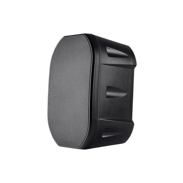 Monoprice 6.5-inch Weatherproof 2-Way Speakers with Wall Mount Bracket (Pair Black)