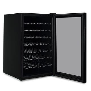 Wine refrigerators coolers for less overstock della touch button mini wine fridge wine cooler red white darks 51 bottle large wine cooler planetlyrics Gallery
