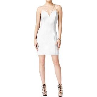 Guess Womens Bodycon Dress Scuba Sweetheart Neck