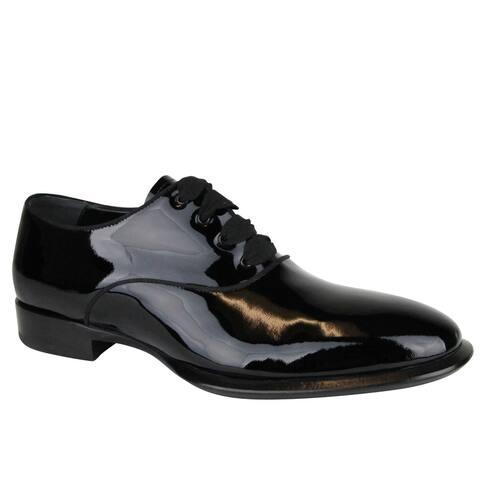 Alexander McQueen Men's Patent Black Leather Dress Shoes 432360