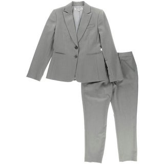 Tahari ASL Womens Petites Pant Suit Two Button 2PC