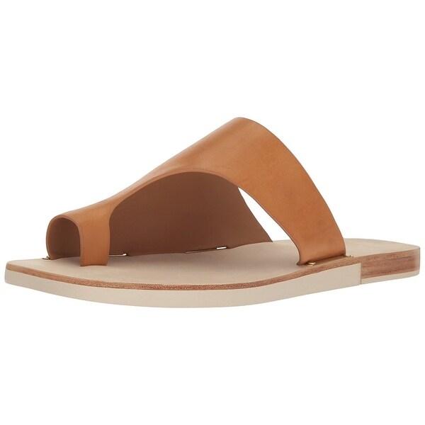 Calvin Klein Womens Rinona Fabric Split Toe Casual T-Strap Sandals