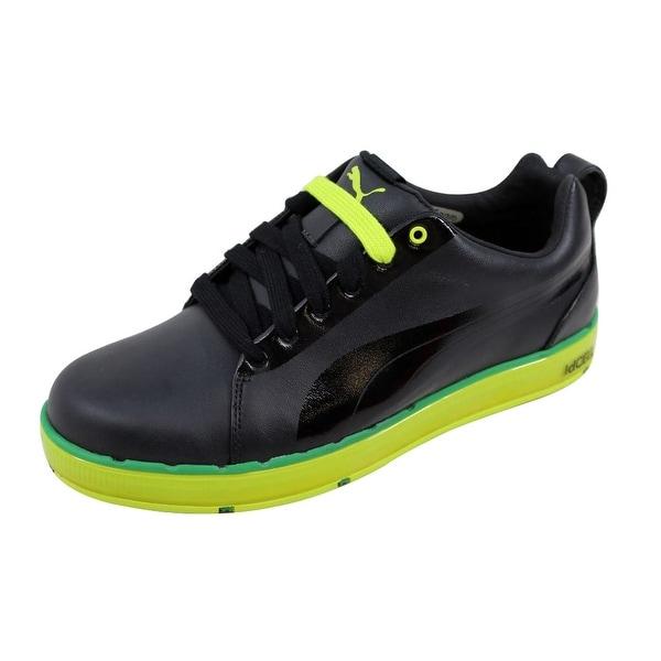 Puma Men's HC Lux LE Golf Black/Lime Punch-Amazon 186093 01 Size 7