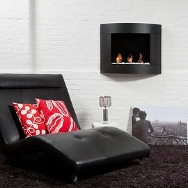 Bio Blaze BB-D1B Diamond Type 1 Wall Mount Fire Place, Black