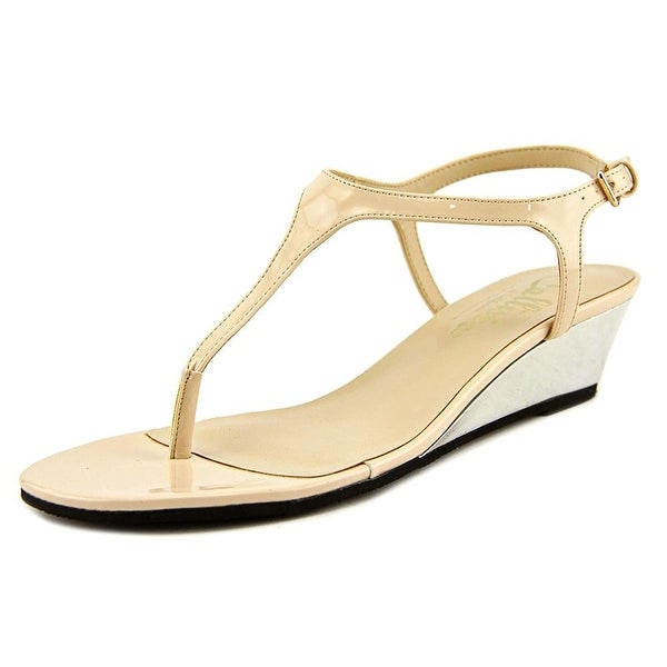 Callisto Spring Open Toe Synthetic Wedge Sandal